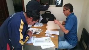 Las comisiones muy temprano asistieron a la calificación de los deportistas.