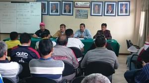 El presidente, Hugo León, presidió el Congresillo de los Juego Zonales.